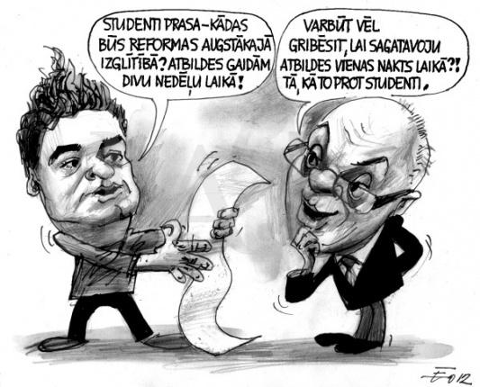 Karikatūra Edvards Ratnieks
